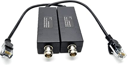 BeElion Single Channel Pair Passive IP Extender Over Coax Cable Transmitter