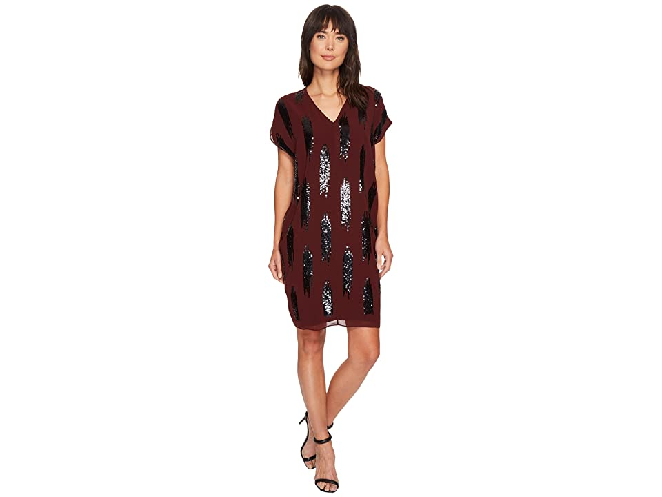 NIC+ZOE Shimmer Dress (Cognac) Women