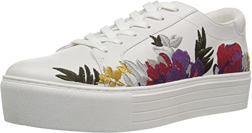 Kenneth Cole New York Wohommes Abbey 2 Platform LACE UP paniers Embroiderouge, blanc, 7 Medium US
