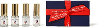 Caswell-Massey Men's Cologne Sampler Gift Set - Travel Size Fragrances in Newport, Greenbriar, Jockey Club and Tricorn Scents: Heritage Sampler, 15 ml Each (Set of 4)