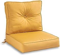 South Pine Porch AMSC7830-WHEAT Wheat Sunbrella Fabric 2-Piece Outdoor Deep Seat Cushion Set
