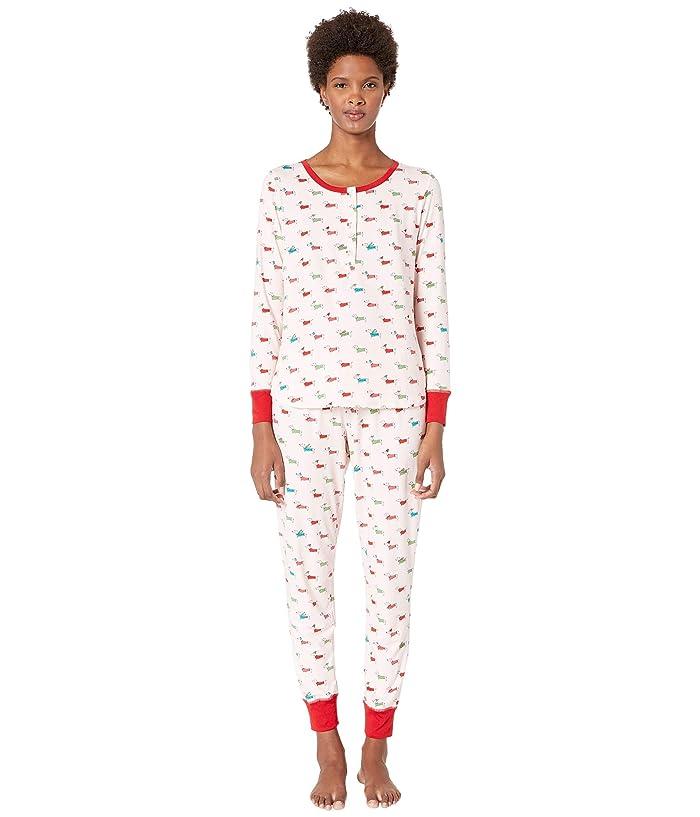 Kate Spade New York Printed Jogger Pajama Set (Dashhounds) Women