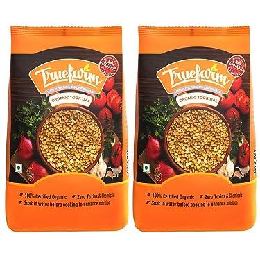 Truefarm Organic Toor Dal - 1Kg (Pack of 2 x 500g)