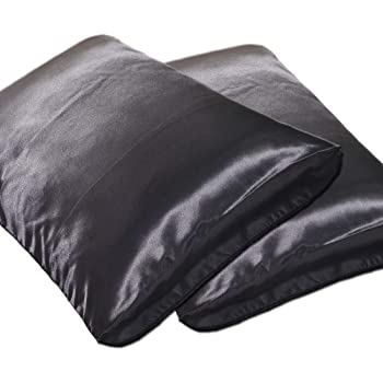 DEHMAN Silk 400 TC Pillowcase (Black_King)