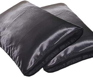 DEHMAN Silk 400 TC Pillowcase (Black_King)