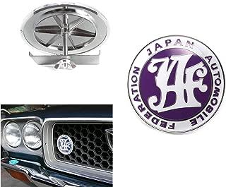 Japan Automobile Federation JDM JAF PURPLE Emblem Badge For Toyota Front Grille