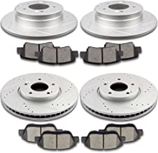 SCITOO Brake Kits, 4pcs Drilled Slotted Brake Rotors and 8pcs Ceramic Disc Brake Pads fit 2011 2012 2013 2017 Hyundai Sonata,2013 Kia Optima