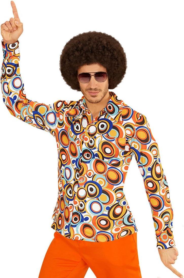70er Männerhemd XXL 60-62 Herren Hippiehemd Flowerpower Shirt Kostüm Schlager