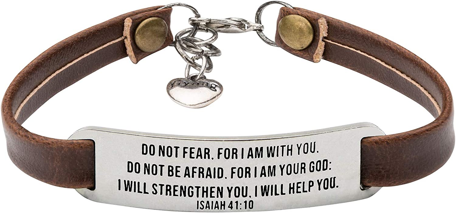 JoycuFF Christian Gifts for Women Leather Bracelets Inspirational Religious Jewelry with Bible Verse Birthday Gift