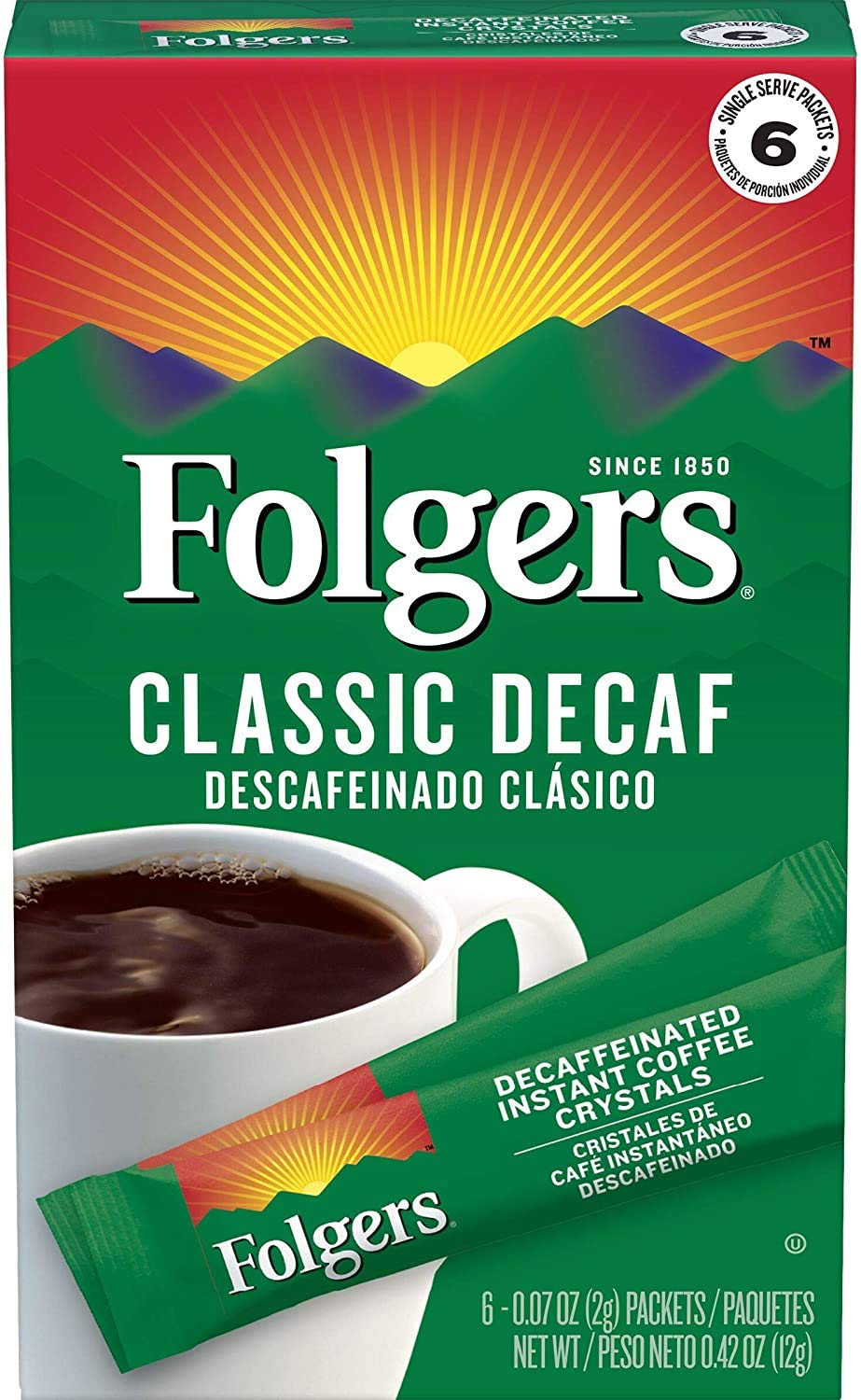 Super beauty product restock quality top Folgers Decaf Classic Roast Ranking TOP2 Instant Packets Coffee Single-Serve