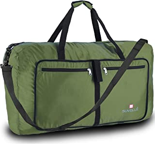 """SUVELLÉ Suvelle Lightweight 29"""" Travel Foldable Duffel Bag for Luggage Gym Sports Water Resistant Nylon Duffle"""