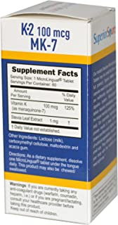 Superior Source, Vitamin K2, 100 mcg, 60 Microlingual Instant Dissolve Tablets