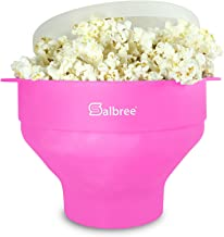 Original Salbree Microwave Popcorn Popper, Silicone Popcorn Maker, Collapsible Bowl BPA Free - 18 Colors Available (Pink)