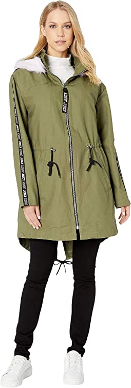 Long Parka with Faux Fur Hood