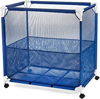 Pool Storage Bin, Pool Toy Storage Cart, Durable UV Resistant Fabric Resists Fading and Cracking, Medium Size 36 x 36 x 24, Bonus Mesh Bag Included