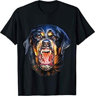 T-Shirt - Vicious Dog Barking - Rottweiler Metzgerhund Face