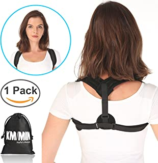 Posture Corrector, Kmmin Clavicle Support Brace Helpful for Upright Back Reduce Bad Posture Guidance to Proper Positon Away from Slouch with Adjustable Magic Velco for Women Men and Kids