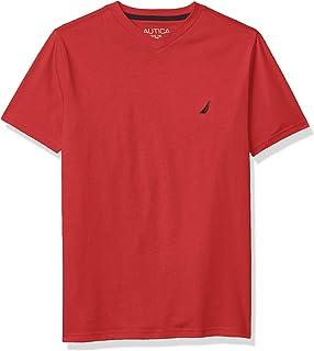 Nautica boys Short Sleeve Solid V-Neck T-Shirt T-Shirt