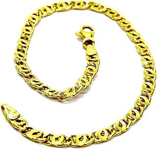Bracciale da Ragazzo Donna in Oro Giallo 18kt (750) Maglia Tigre Pinzato Cm 18,5