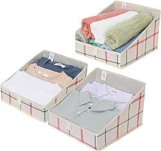 GRANNY SAYS Trapezoid Storage Bin, Closet Organizer Bins, Toy Open Storage Baskets, Linen Closet Organizer, Red, Green and...