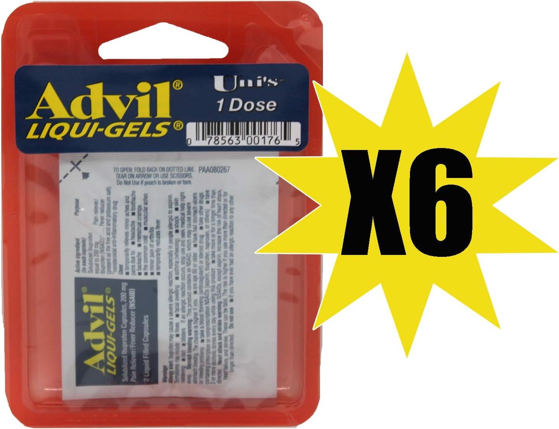 Uni's Advil Liqui-Gels Single Dose 6 Count (2 Capsules) Helps Re