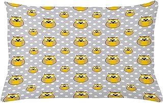 Ducan Lincoln Pillow Case 4 Piezas 18X18 Pulgadas Funda De Cojín con Estampado De Búho,Almohada Infantil con Lunares,Funda De Almohada Decorativa Rectangular para El Hogar