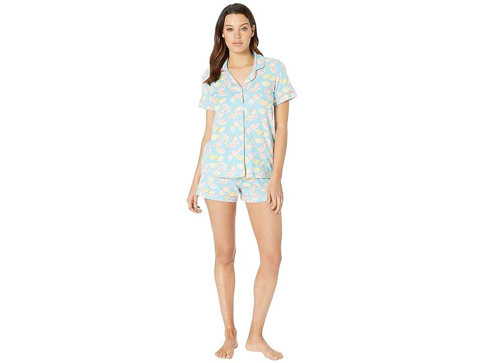 BedHead Pajamas Short Sleeve Classic Short Pajama Set (Citrus) Women