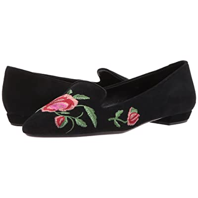 Vaneli Galka (Black Suede/Pink/Bordo Flower/Dark Green Leaf Embroidery) Women