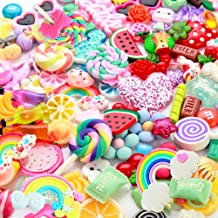 Slime Charms Cute Set - 100pcs Charms for Slime Assorted Fruits Candy Sweets Flatback Resin Cabochons for Craft Making, Ornament Scrapbooking DIY Crafts