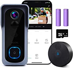 WiFi Video Doorbell Camera, Agoal Wireless Doorbell Camera with Chime, 1080P HD Home Security Smart Doorbell Camera with 3...