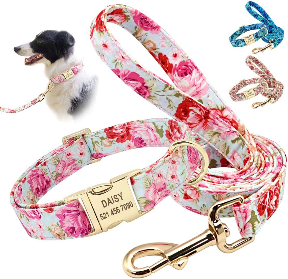 Beirui Soft Floral ID Dog Collars Nippon regular agency with Flow High quality Name Beautiful Plate