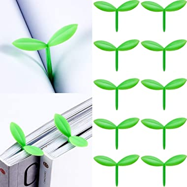 Sprout Little Green Bookmarks Mini Green Sprout Bookmarks Silicone Grass Buds Bookmarks Creative Gifts for Bookworm Book Love