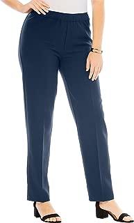 Roamans Women's Plus Size Bend Over Classic Pant