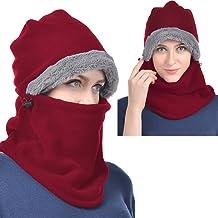 USHAKE Heavy Fleece Unisex Balaclavas, Ski Face Mask, Winter Neck Warmer Protective Headgear