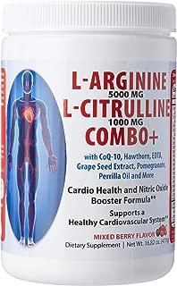 L Arginine & L Citrulline Combo Mixed Berry Flavor 16.82 Ounce Powder