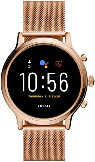 Fossil Womens Digital Watch, Digital Display and Rose Gold Strap FTW6062