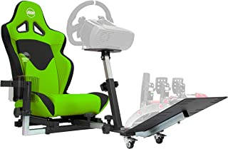 Openwheeler GEN2 Racing Wheel Stand Cockpit Green on Black | Fits All Logitech G29 | G920 | All Thrustmaster | All Fanatec Wheels | Compatible with Xbox One, Playstation, PC Platforms