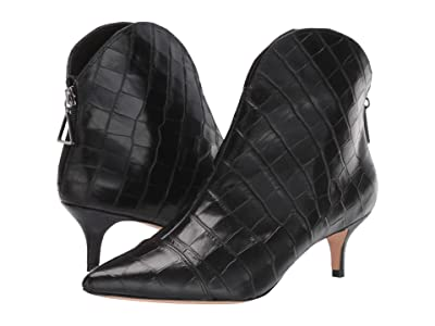 Schutz Zelia (Black New Crocodile) Women