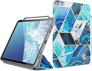 i-Blason Case for iPad Pro 12.9 Inch 2018 Release, [Cosmo] Full-Body Trifold Stand Protective Case Cover with Auto Sleep/Wake & Pencil Holde, Blue, 12.9