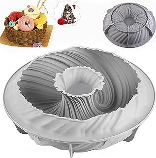 Moule à Gâteau en Silicone en Spirale, Moule à Gâteau Forme de Tourbillon, Moule à GâTeau Rond Silicone AntiadhéSif en Spi...