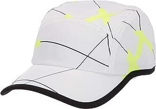 Lacoste Mens Sport Printed Tennis Cap Cap, White/Black/Fluorescent Zest, One Size
