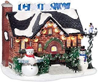 Department 56 Snow Village The Snowman House Lit Building