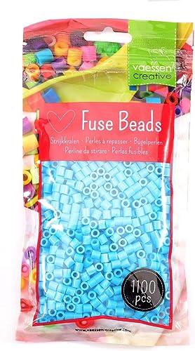 Vaessen creative Perles à Repasser, Turquoise, Set de 1100 pièces DIY pour Enfants, Création de Bijoux, Décorations F...