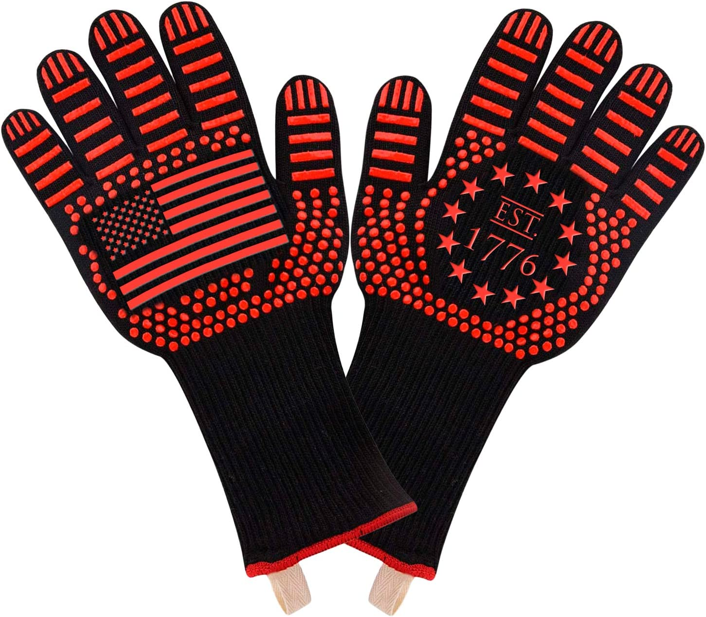 American Flag Extreme Heat Resistant Gloves Oven Grea BBQ – Fixed price Industry No. 1 for sale
