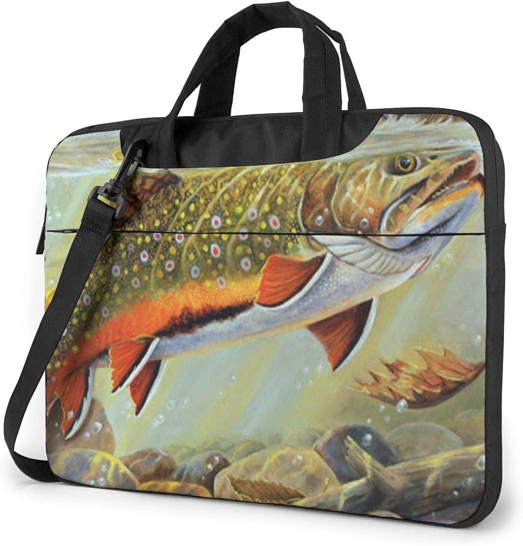 Brook Trout Fly Fishing Printed Laptop Shoulder Bag,Laptop case Handbag Business Messenger Bag Briefcase