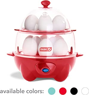 Dash DEC012RD Deluxe Rapid Cooker Electric for Hard Boiled, Poached, Scrambled Eggs,..
