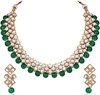 Stylish Bollywood Wedding Party Wear Necklace Earring Set Indian Ethnic Traditional Jewelry for Women