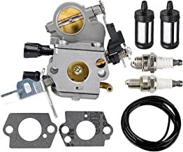 Harbot C1Q-S269 Carburetor with Gasket Fuel Line Filter Spark Plug for Stihl MS171 MS181 MS201 MS211 Chainsaw 1391200619 11391207100 11391200612