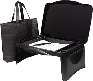 Ergonomic Folding Lap Desk, Hidden Storage Space Tray - Multifunctional Lap Desk for Laptop, Study Surface, Reading, Break...