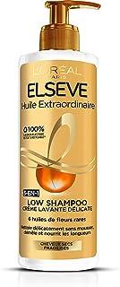 LOréal Paris Elsève Low Shampoo Crème Lavante Nutritive pour Cheveux Secs 400 ml